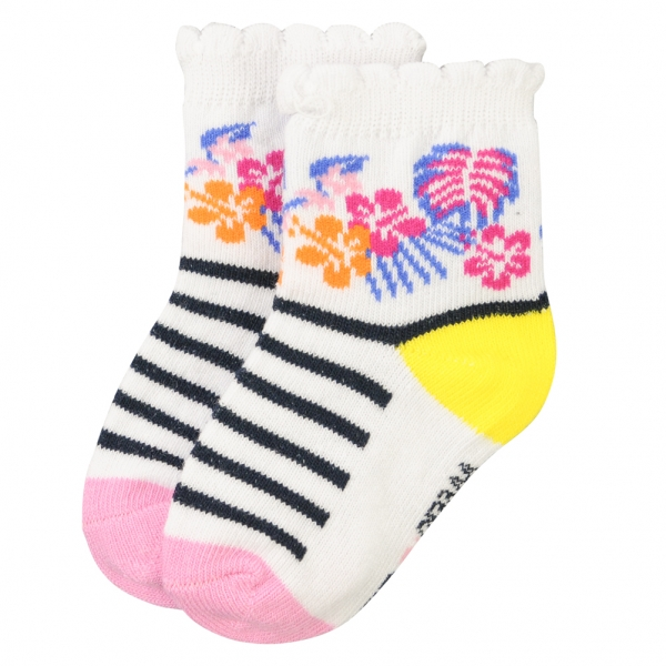 Socks with tropical pattern