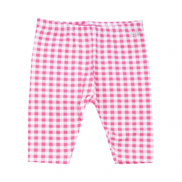 Pink gingham leggings