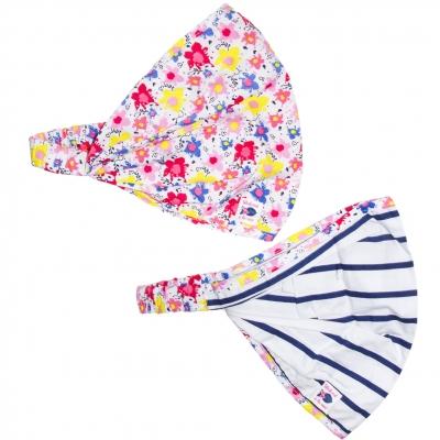 Flower-printed headband