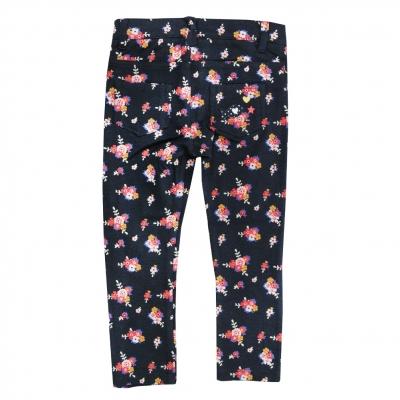 Printed slim fit trousers