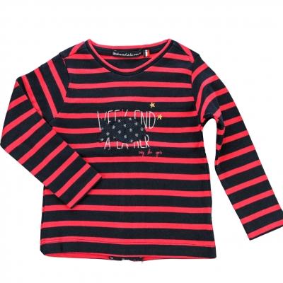 Tee-shirt marine framboise