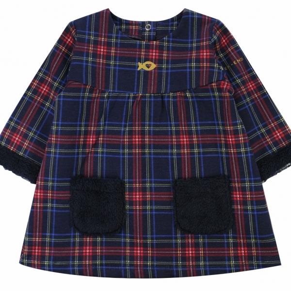 Dotted fleece dress