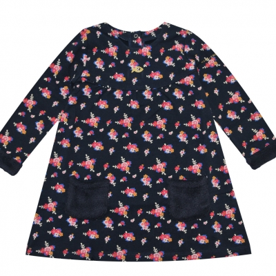 Flowers fleece dress