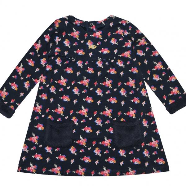Flowers fleece dress