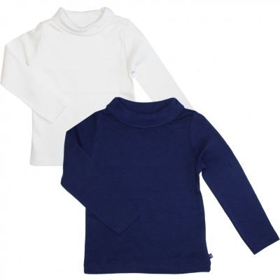 Pack of 2 polo-neck jumpers