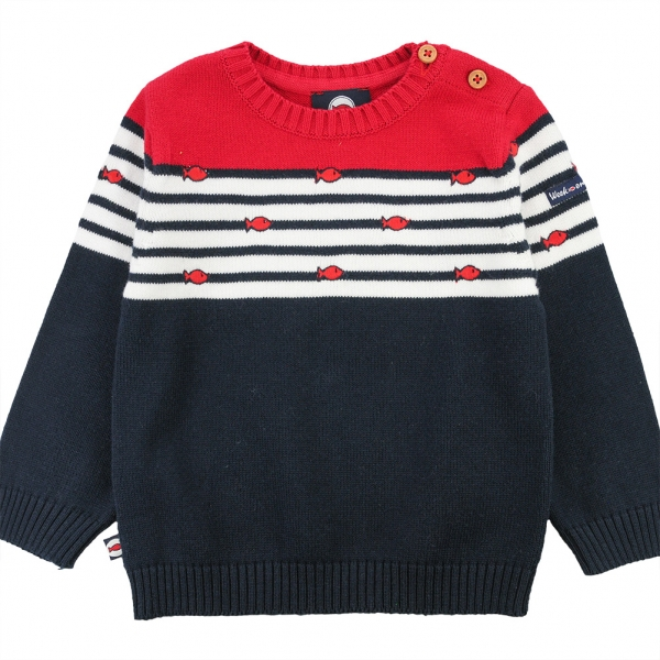 Red striped top sweater