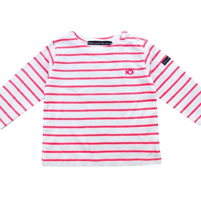 Sailor tee striped neon pink