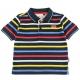 Navy multicolor polo-shirt