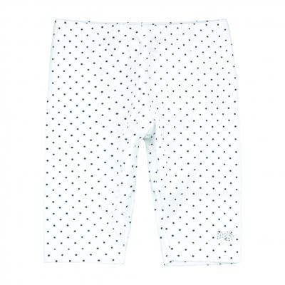 Dotted white leggings