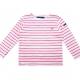 Sailor tee striped neon pink