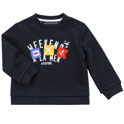 Navy fleece sweater