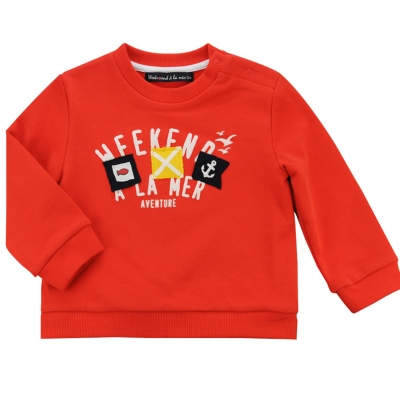 Orange fleece sweater