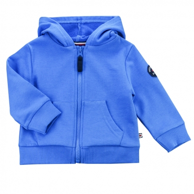 Fleece Hooded blue sweater