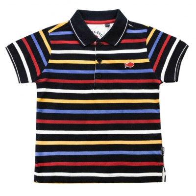 Navy multicolor polo-shirt