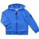 Fleece Hooded blue sweater