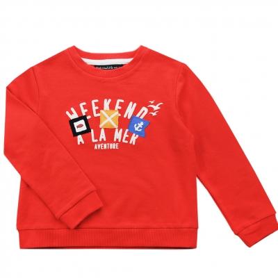 Orange fleece sweater