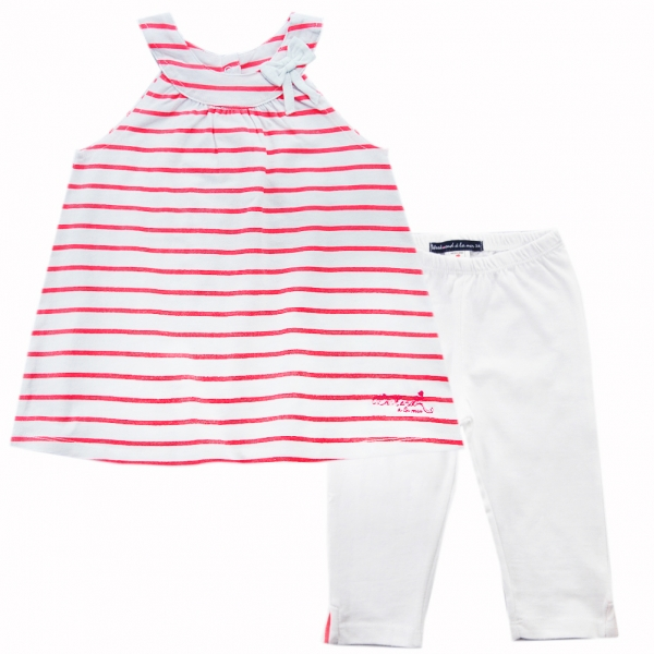 Pink neon stripe outfit