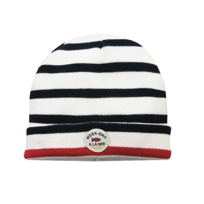 off white navy hat