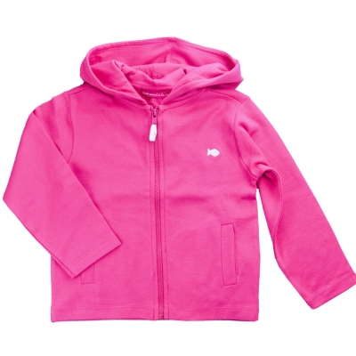 Hooded pink jacket