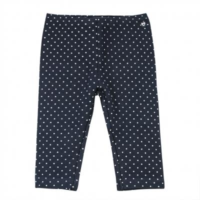 Dotted navy leggings
