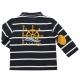 navy stripe opt white polo-shirt