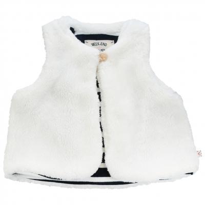 false fur vest