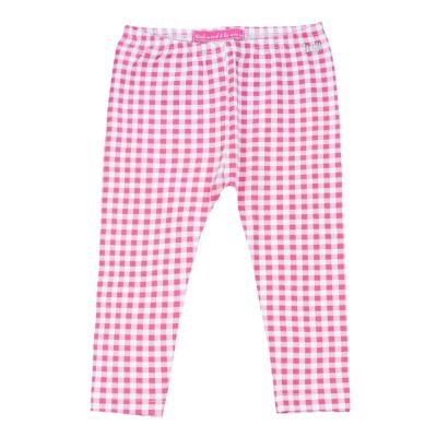 Pink gingham leggings