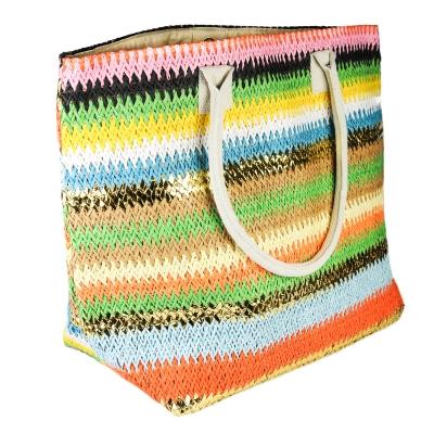 sac plage multicolore