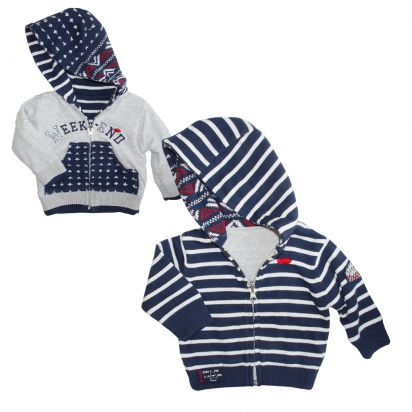 Reversible knitted sweater