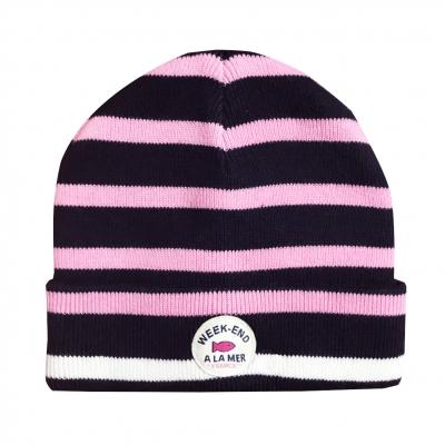 Bonnet coton marine pink