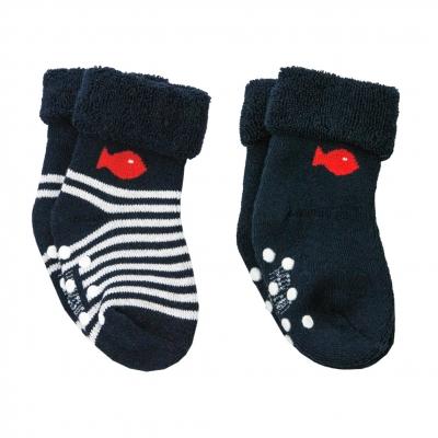 Navy ecru socks