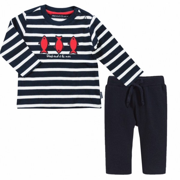 navy and off white a set