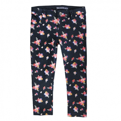 Pantalon slim à fleurs