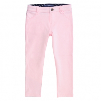 Pink slim fit trousers