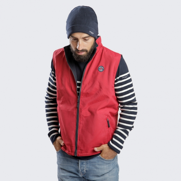 Reversible sleeveless jacket