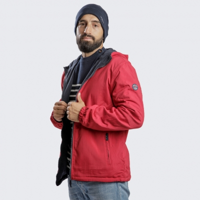 Veste à capuche zippée réversible