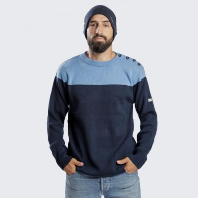 Sweater navy-skyblue