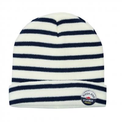 Ecru navy hat