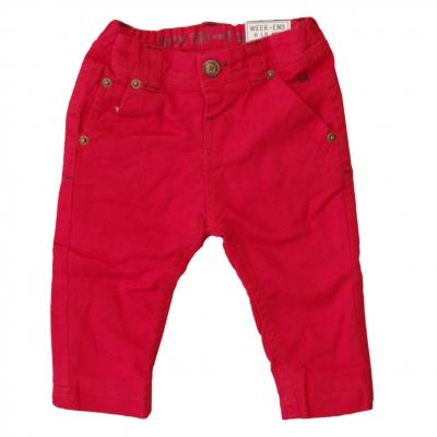 Red velvet pants